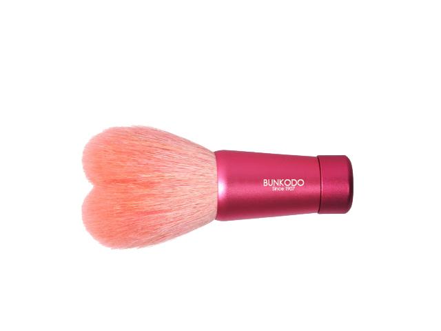 熊野筆化粧筆ハート型洗顔ブラシ