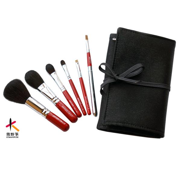 熊野筆化粧筆アーティストシリーズ6本セット