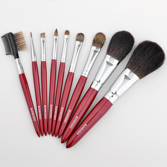 熊野筆化粧筆KRフルセット白背景